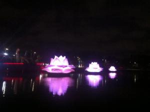 White Night 2015 - Purple Lotus Flowers.